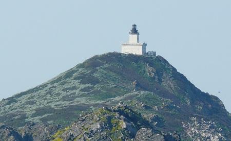 Phare sur l'île Sanguinaire en Corse au large du golfe d'Ajaccio