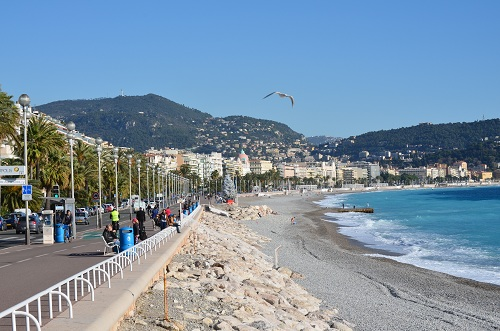 Promenade des Anglais et plage de Nice