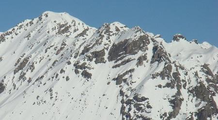 Montagne autour de la station de ski de Saint Lary Soulan dans les Pyrénées