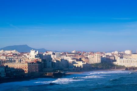 Vue sur Biarritz et l'océan Atlantique